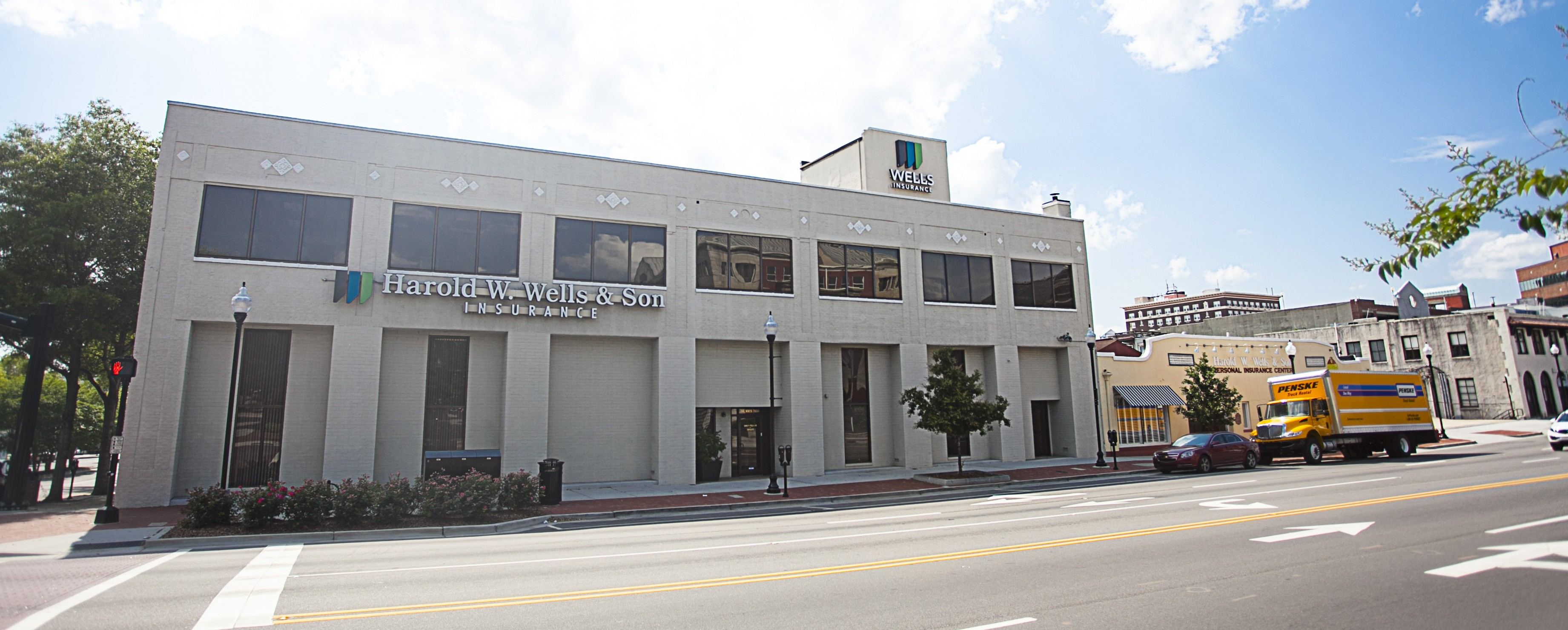 Wells Insurance's headquarters located on the corner of Market St. & 3rd St. in downtown Wilmington, NC. Best insurance company.